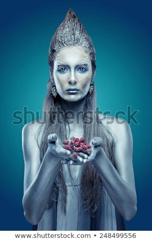 model with butterfly bodyart Stock photo © zastavkin