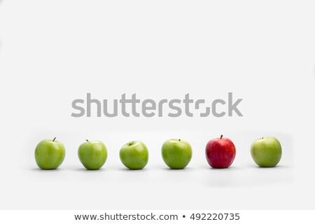 manzana · excepción · línea · manzanas · uno · multitud - foto stock © smithore