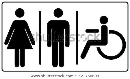 kamu · tuvalet · imzalamak · ahşap · 3D · dizayn - stok fotoğraf © happydancing