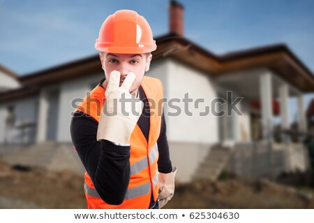 helmeted foreman with threatening look Stock photo © photography33
