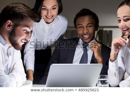 вокруг · ноутбука · бизнеса · компьютер · заседание - Сток-фото © photography33