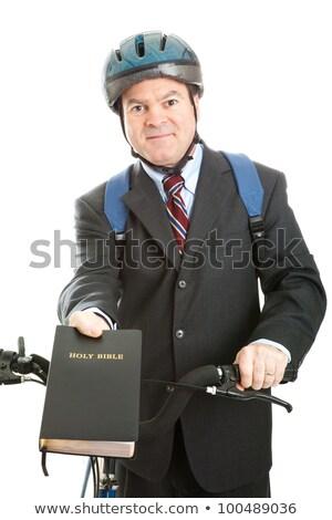 Bicycle Bible Salesman Stock photo © lisafx