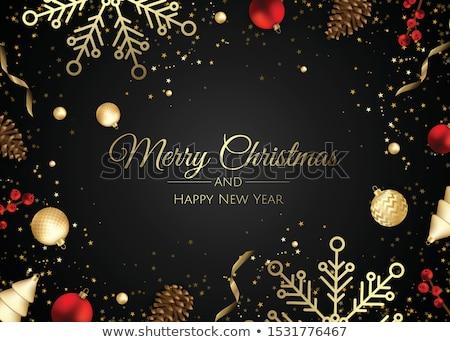 Vektor karácsony illusztráció ajándék doboz piros absztrakt Stock fotó © articular
