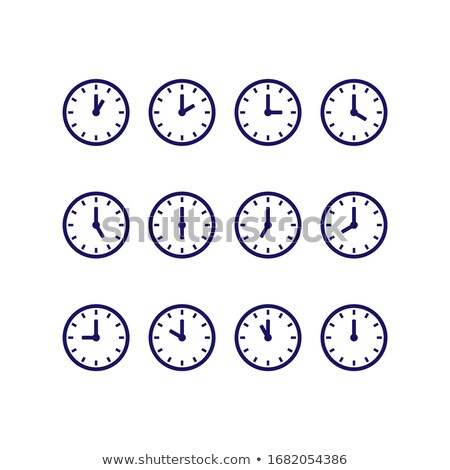 Set of six day and night symbols Stock photo © fixer00
