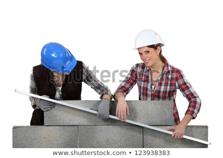 two craftswomen measuring a wall Stock photo © photography33