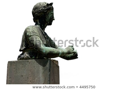 Sculpture of one of inhabitants of Pompey (Pompeii) Stock photo © michey