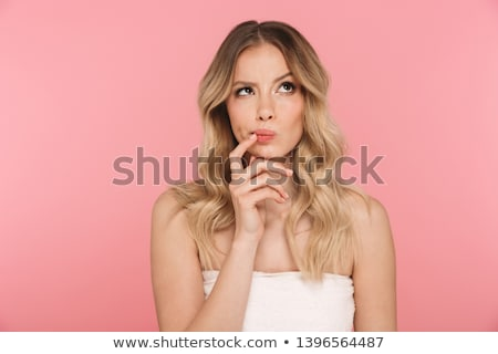 fille · blond · cheveux · bouclés · jeunes - photo stock © carlodapino