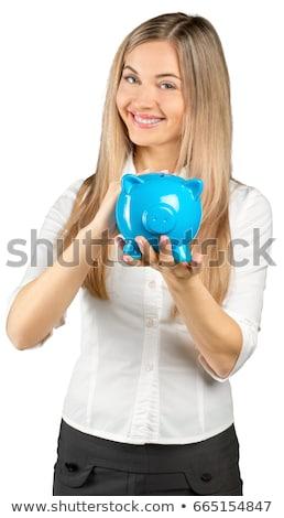 肖像 · 若い女性 · お金 · ボックス · 女性 · 少女 - ストックフォト © photography33