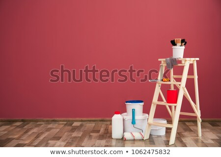 Decorator with steps and red paint Stock photo © photography33