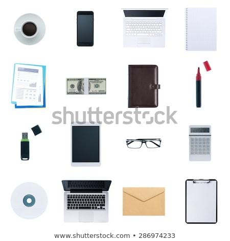 オフィス オブジェクト クロック ペン ノート 紙 ストックフォト © Gbuglok