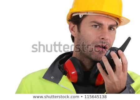operator transmitting via radio Stock photo © photography33