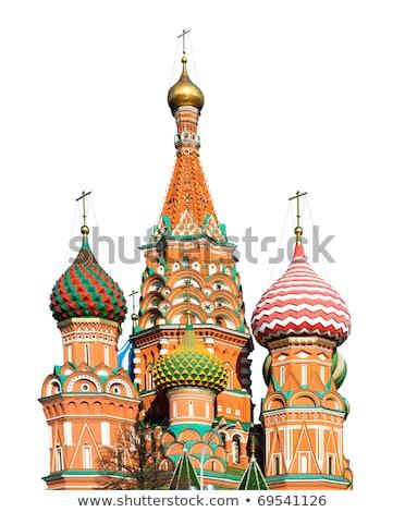 vermelho · praça · torres · russo · céu · urbano - foto stock © mikko