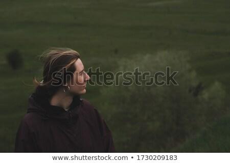 Lata czasu łące streszczenie kobiet portret Zdjęcia stock © tolokonov