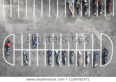 many motorbikes at the parking stock photo © luckyraccoon