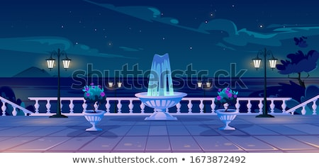 Night landscape with street lamp Stock photo © zzve