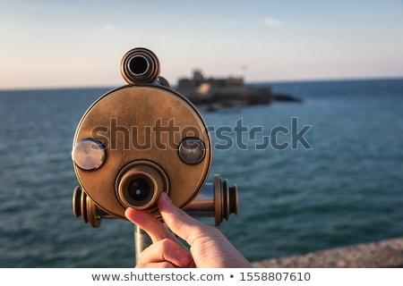Teleskop monety morza metal zamek Zdjęcia stock © smuki