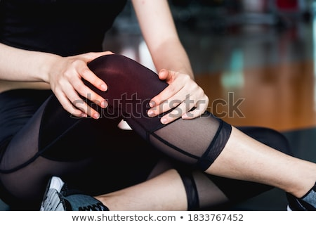 Knee in Knee Brace after an injury Stock photo © soupstock