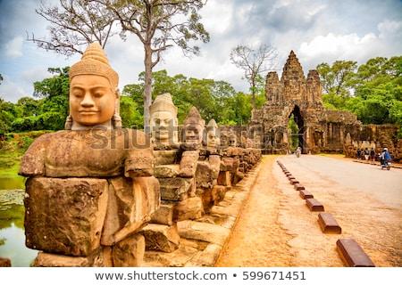 Templo angkor Camboja cara ponte rocha Foto stock © tuulijumala