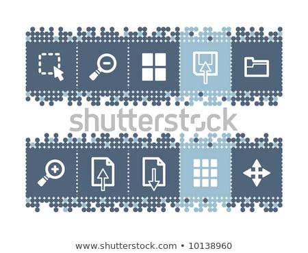 синий Бар иконки вектора веб-иконы набор Сток-фото © SergeyT