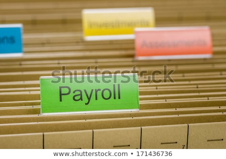 Hanging file folder labeled with Payroll Stock photo © Zerbor
