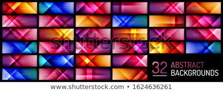 vector colorful shiny cubic background Stock photo © burakowski