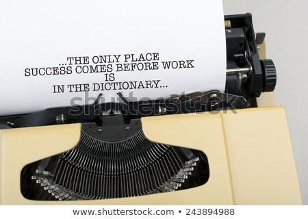 ストックフォト: 成功 · 作業 · 辞書 · 場所 · 未来的な · やる気を起こさせる