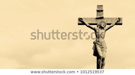 Mesih çapraz iki sevmek sanat İsa Stok fotoğraf © ifeelstock