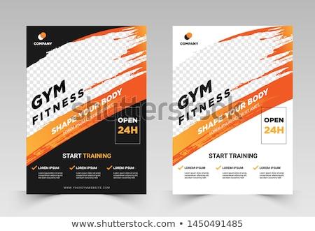 Santé fitness flyer modèle mode imprimer Photo stock © rioillustrator