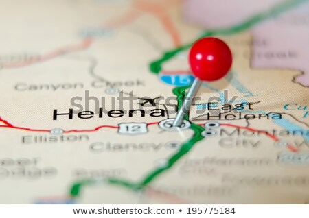helena city pin on the map stock photo © alex_grichenko