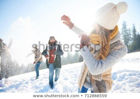 Giovani famiglia inverno vacanze ragazza Foto d'archivio © monkey_business