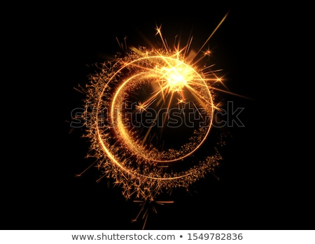 Stock photo: Sparkler frame