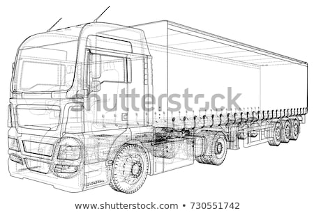 Lorry or truck. Vector illustration Stock photo © leonido