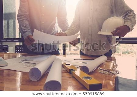 Сток-фото: дома · строительство · древесины · домой · кирпичных · архитектура