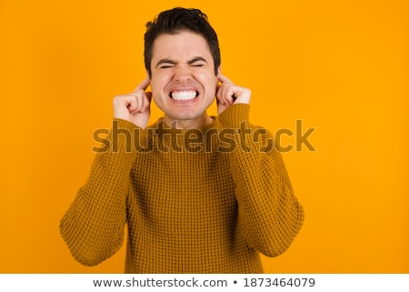 Please, stop making loud noise ! Stock photo © stockyimages