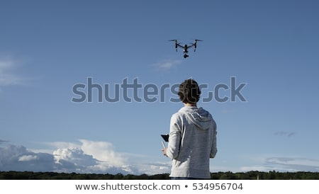 Octocopter drone flying with camera stock photo © Kor
