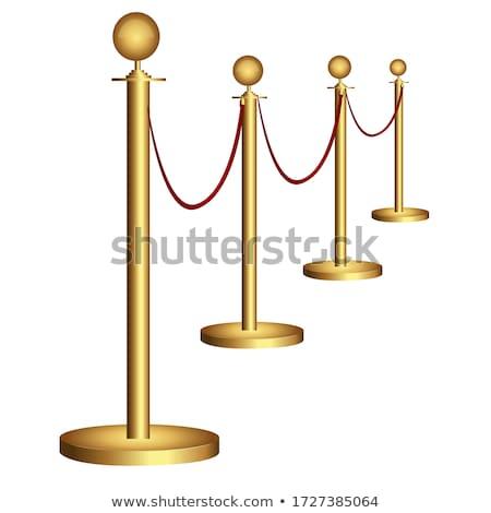 golden fence stock photo © hofmeester
