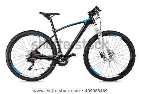 Mountainbike geïsoleerd witte sport berg fiets Stockfoto © ozaiachin