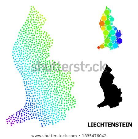 Map of Liechtenstein with Dot Pattern Stock photo © Istanbul2009