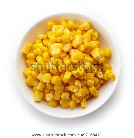 Canned corn in bowl isolated on white Stock photo © ozaiachin