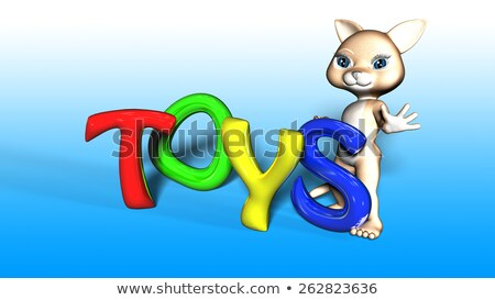 Toon Cat Figure with TOYS text Stock photo © ankarb
