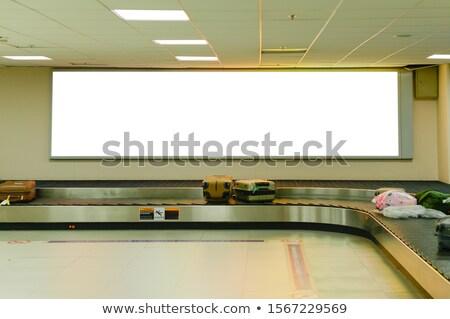 Sign Panel at Airport Stock photo © zhekos