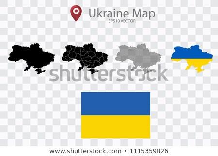 Mapa ponto padrão bandeira botão Ucrânia Foto stock © Istanbul2009