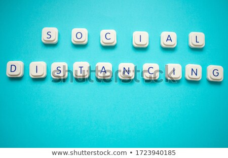 Avoid - White Word on Blue Puzzles. Stock photo © tashatuvango