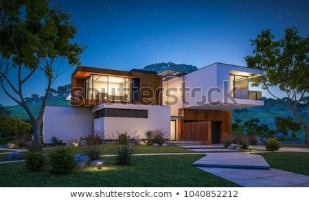 Montagne extérieur de la maison vue bâtiment construction Photo stock © alexandre_zveiger