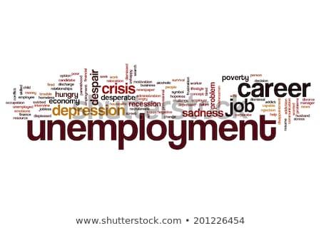 recesja · chmura · słowo · napisany · kawałek · papieru · finansów - zdjęcia stock © tang90246