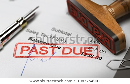 Dette tampon financière papier affaires argent Photo stock © fuzzbones0