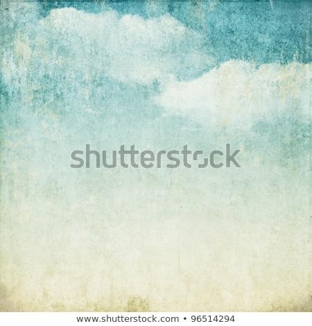 Vintage nuages coloré rayé papier fond Photo stock © olgaaltunina