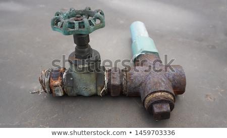 ржавые металл Трубы избирательный подход промышленности Сток-фото © stevanovicigor