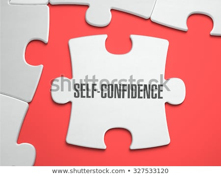 Self-Confidence - Puzzle on the Place of Missing Pieces. Stock photo © tashatuvango