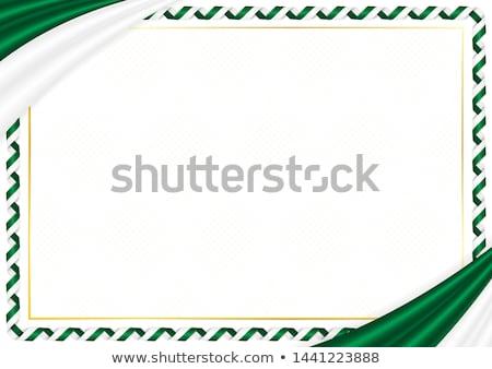 Алжир стране флаг карта форма текста Сток-фото © tony4urban